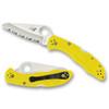 Spyderco C88SYL2 Yellow Salt 2 Folder Knife, H-1 Satin SpyderEdge Blade