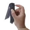 Ruger 2-Stage Compact Flipper Knife, Black Stonewash Plain Tanto Blade