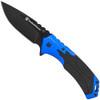 Smith & Wesson SW605BL Blue/Black Folder Knife, Black Blade