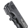 Ruger All-Cylinders Folding Knife, G10 Handle, Black Stonewash Plain Blade