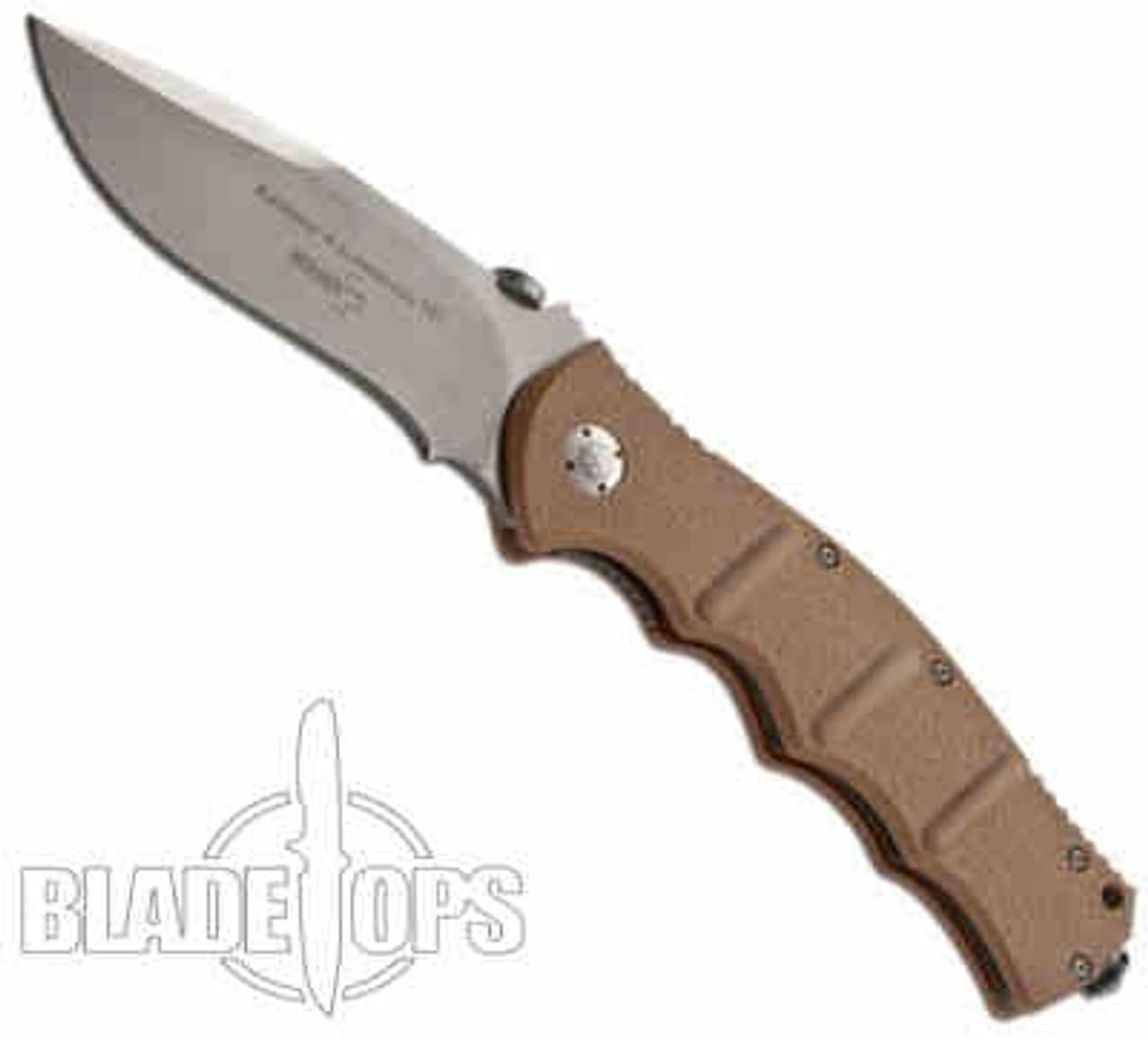 Boker Plus Desert Automat Kalashnikov 101 Folder Knife, Satin Plain Blade