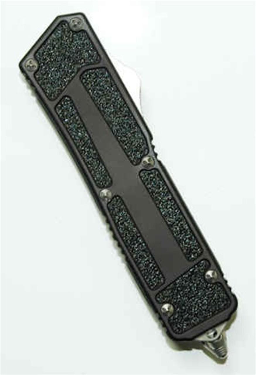 Microtech SCARAB OTF Knife, DLC Black Tanto, SER,  MT113-2