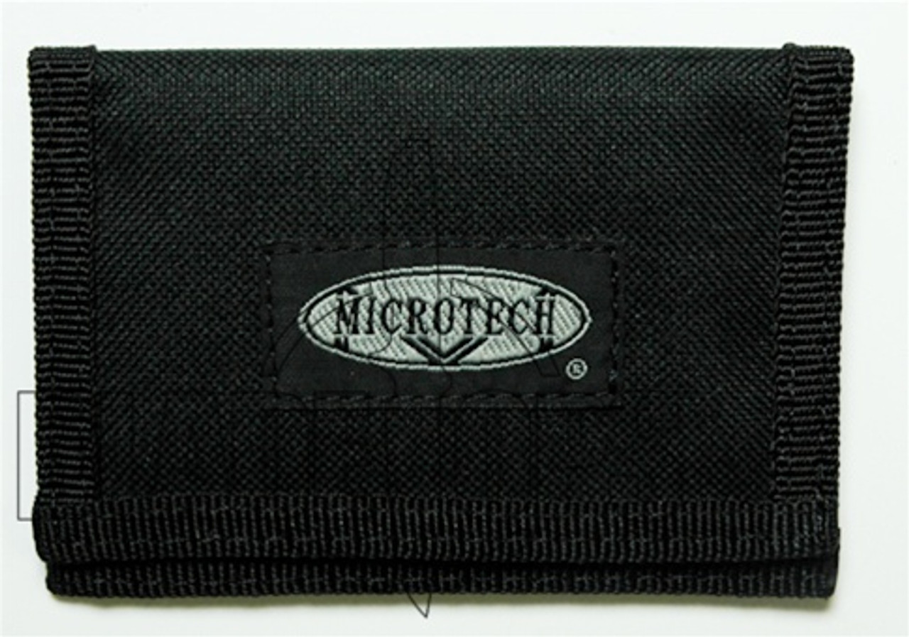 Microtech Assailant Credit Card Knife, Titanium with Nylon Wallet, 102-1