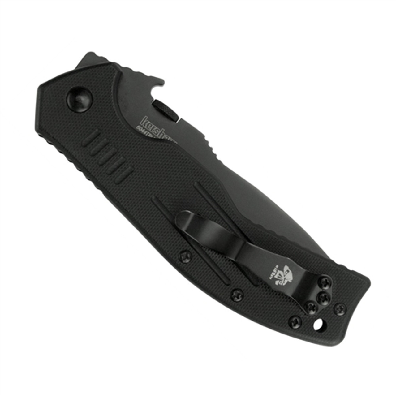 Kershaw Emerson CQC-8K Knife, Black Tanto Point Blade