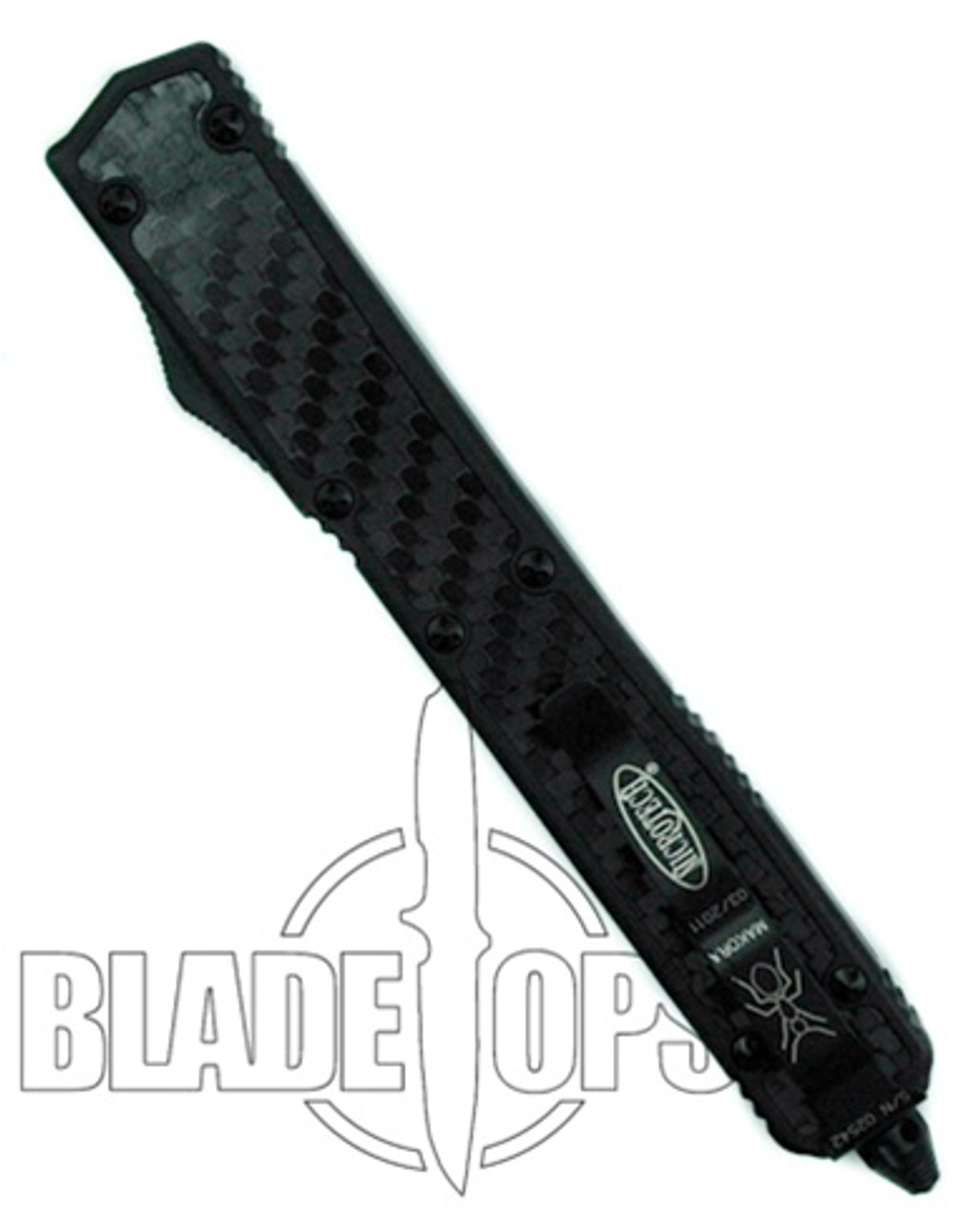 Microtech Tactical Makora II OTF Knife, Dual Edge Blade, Full Serrrations One Edge, 106-3T