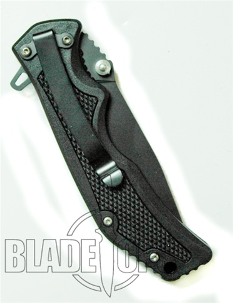 Blackjack Model 3 Tactical Drop Point Spring Assist Knife, Black, PLN, BJ038