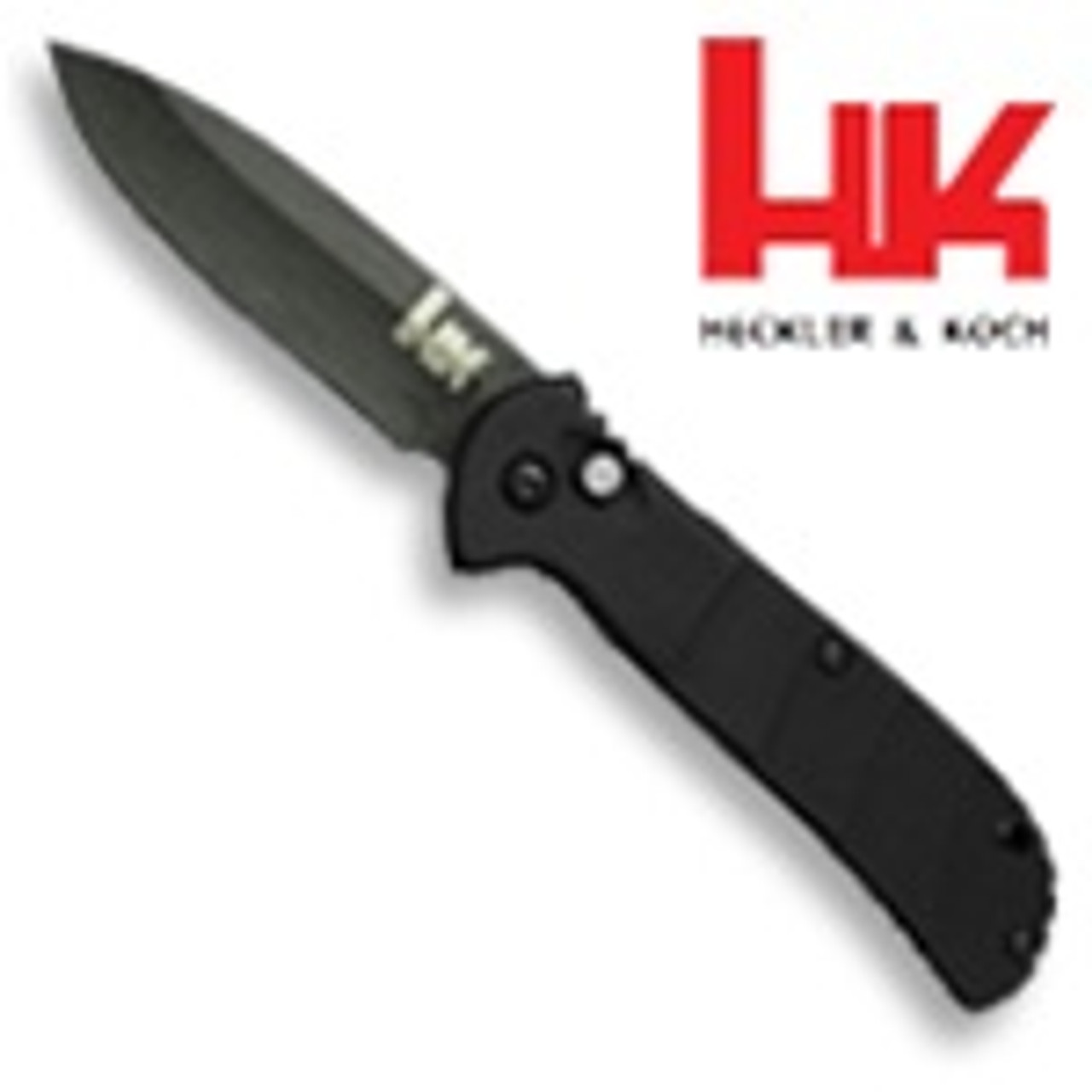 Benchmade H&K 14750BX Mini Auto Knife, Black Plain Edge