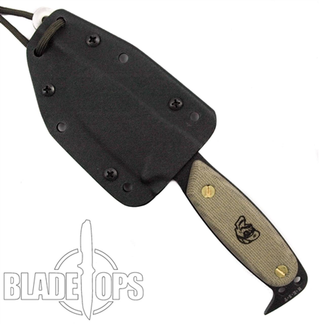 DPx HEST Original Fixed Blade, Black Plain Blade