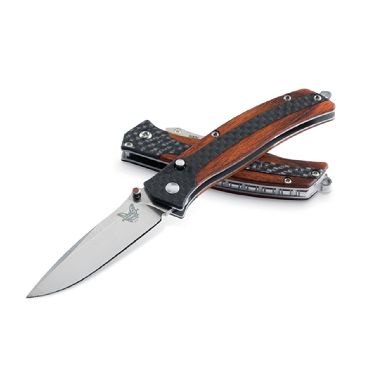 Benchmade 482 Megumi Carbon Fiber/Cocobolo Folder Knife, CPM-S30V Satin Blade