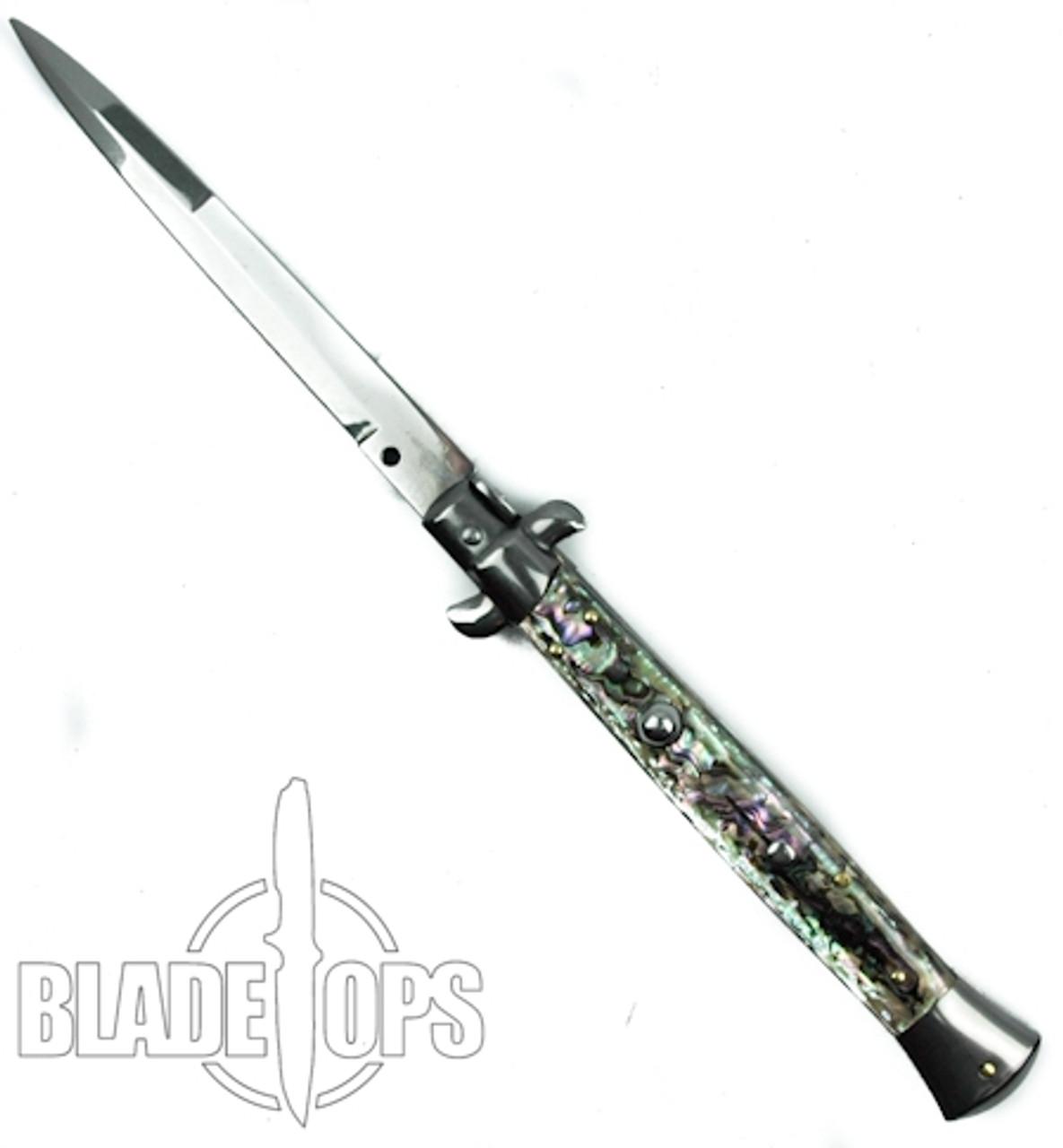 "Frank Beltrame 11"" Abalone Limited Stiletto Knife, Bayonet Blade"