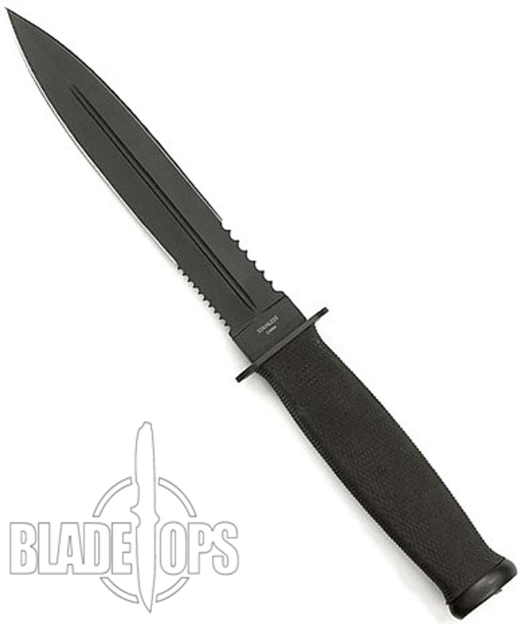 Fury Midnight Commando Fixed Blade Knife, Part Serrated
