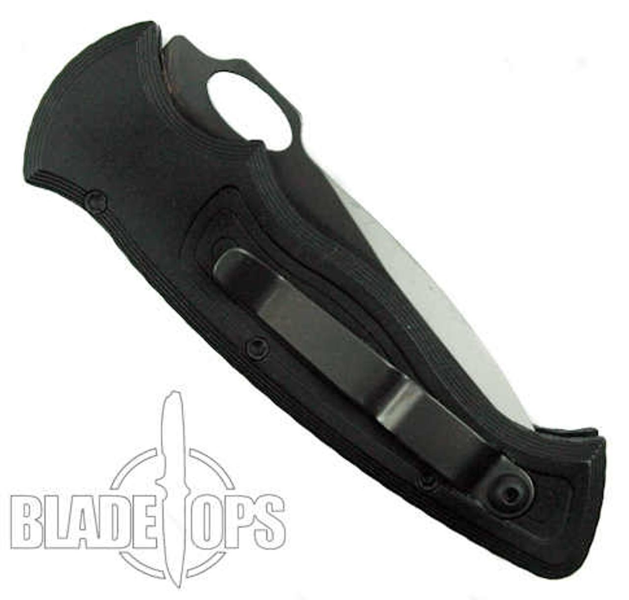 Piranha Hybrid Auto Knife, 154CM Black Combo Blade