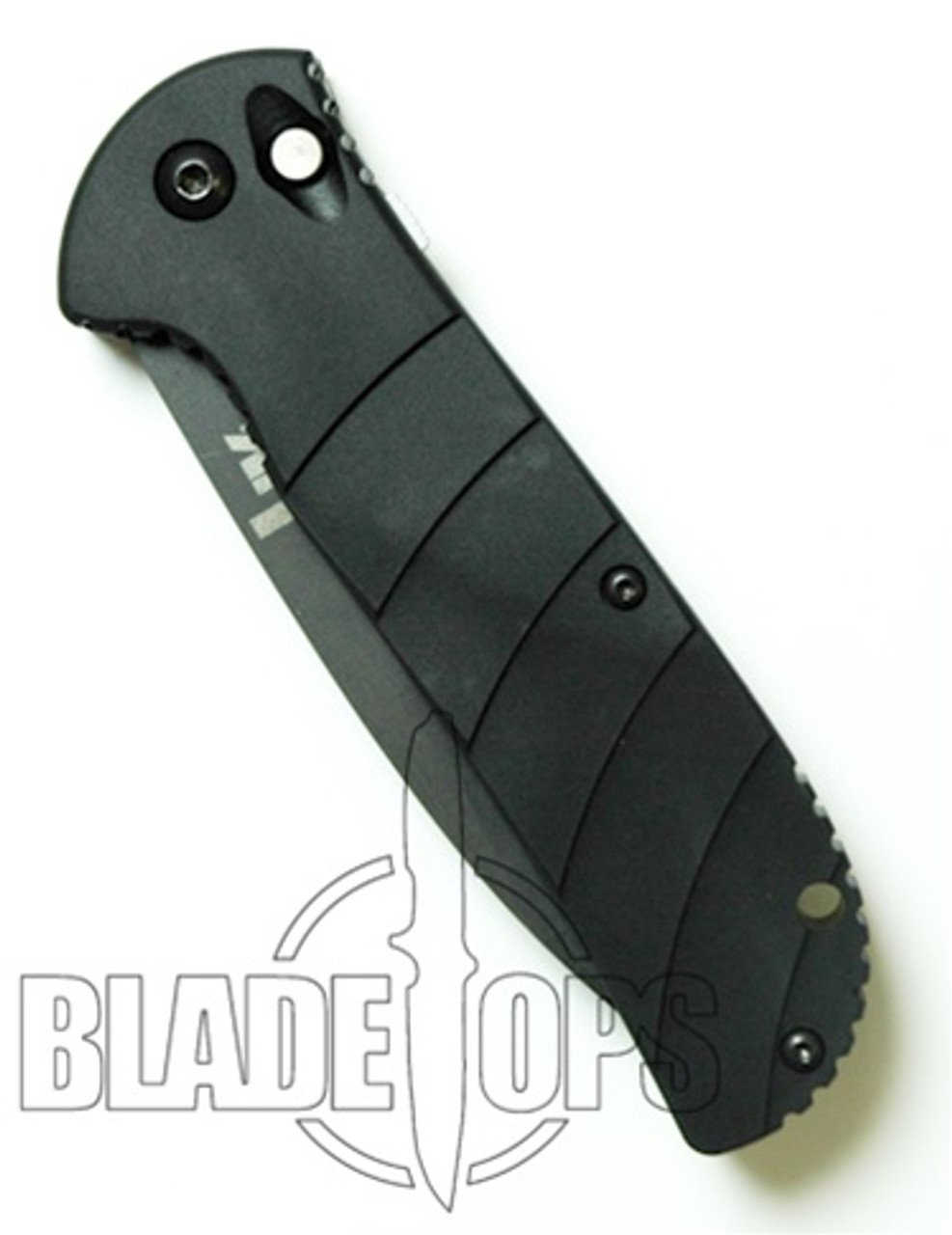 Benchmade H&K 14700BX Auto Knife, Black Plain Edge Blade