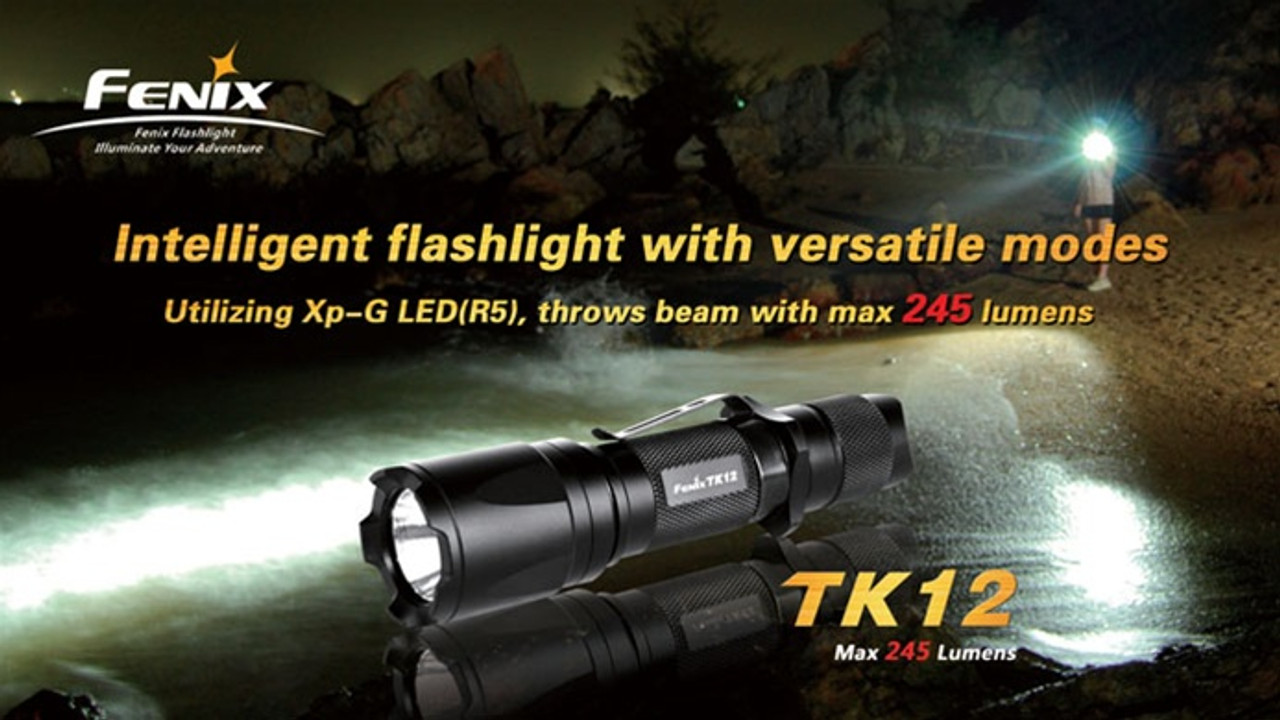 Fenix TK12 R5 LED Flashlight, 245 Lumens