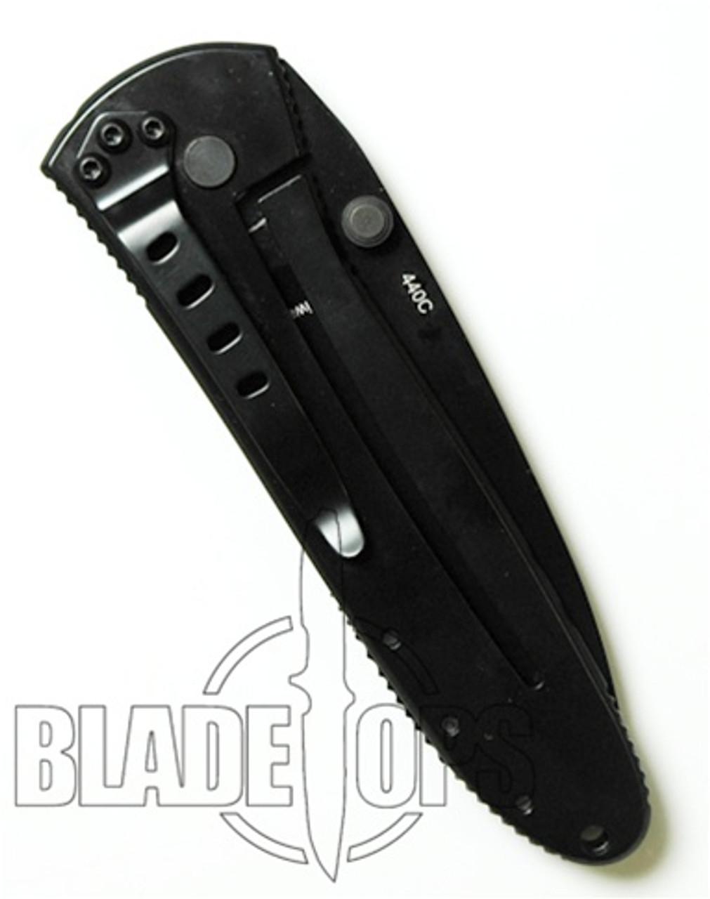 Benchmade H&K Monochrome Steirer Eisen Manual Folder Knife, Drop Point, Part Ser, 14320SBK
