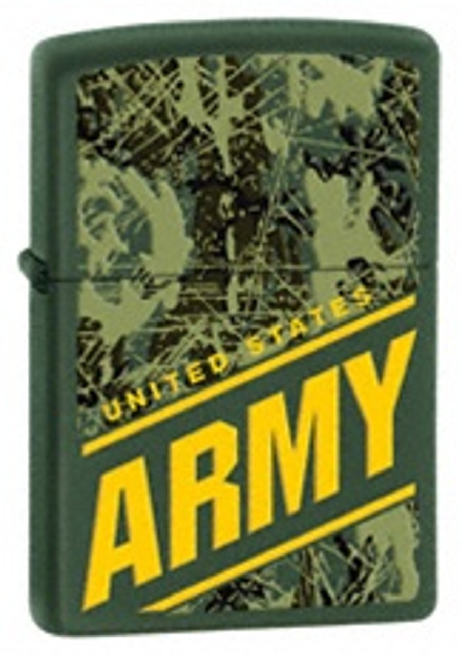 US Army Zippo, Green Camo, 24828