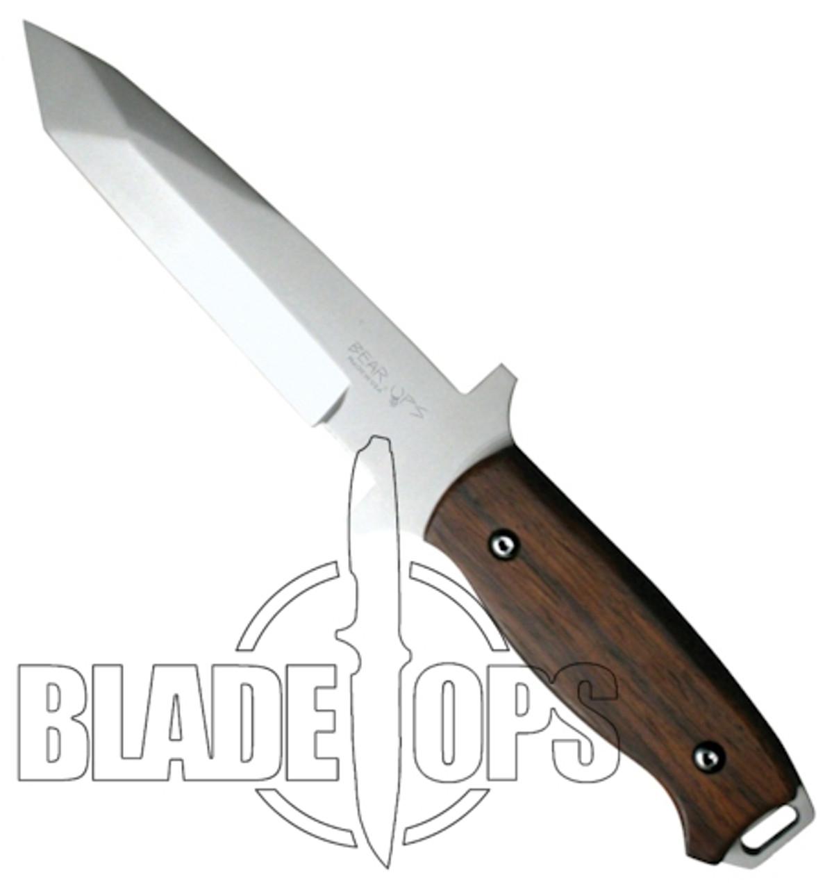 Bear OPS CQC-110-CB2-P Combat Knife, Bead Blast Tanto, Cocobolo Handle
