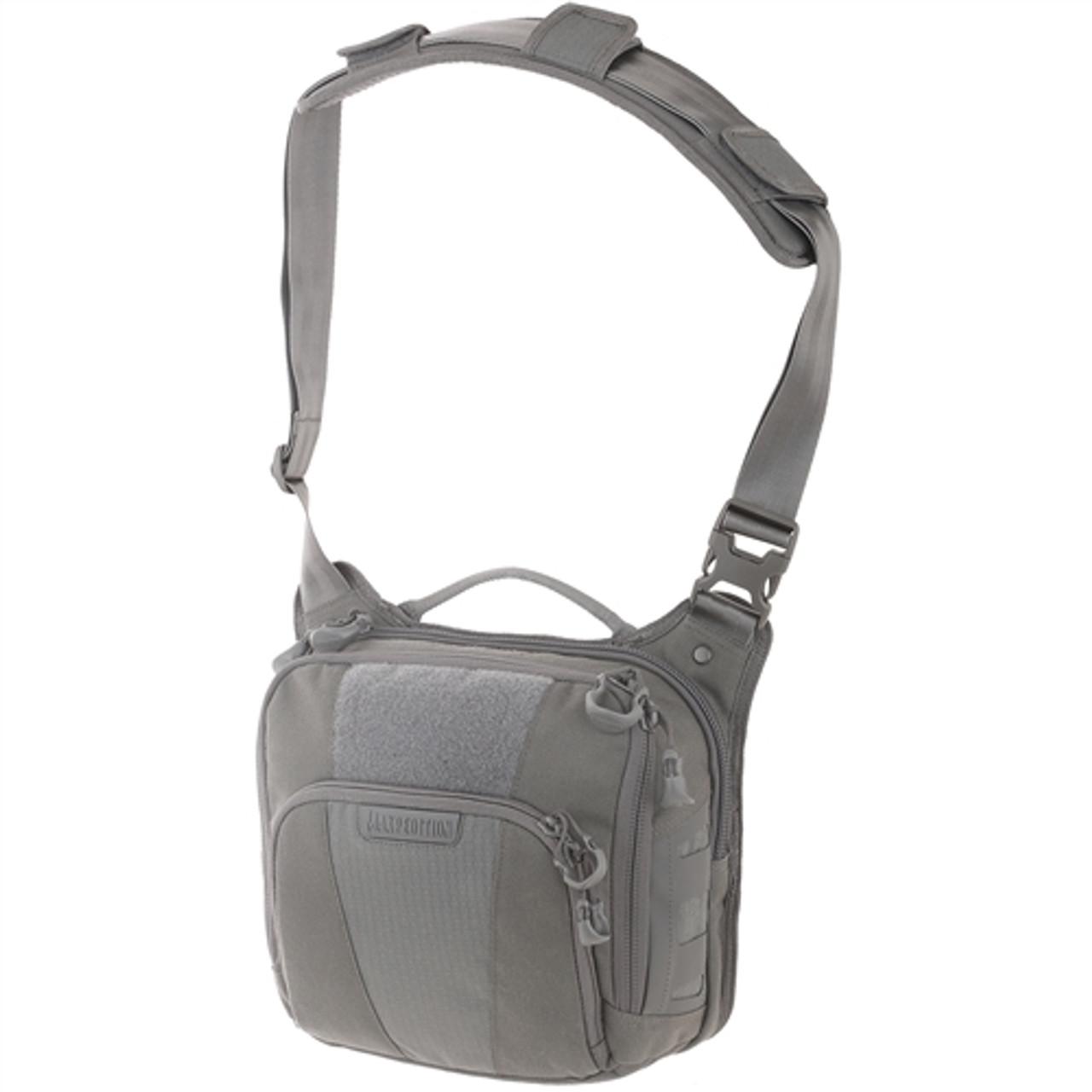 Maxpedition LCRGRY AGR Lochspyr Crossbody Shoulder Bag, Grey