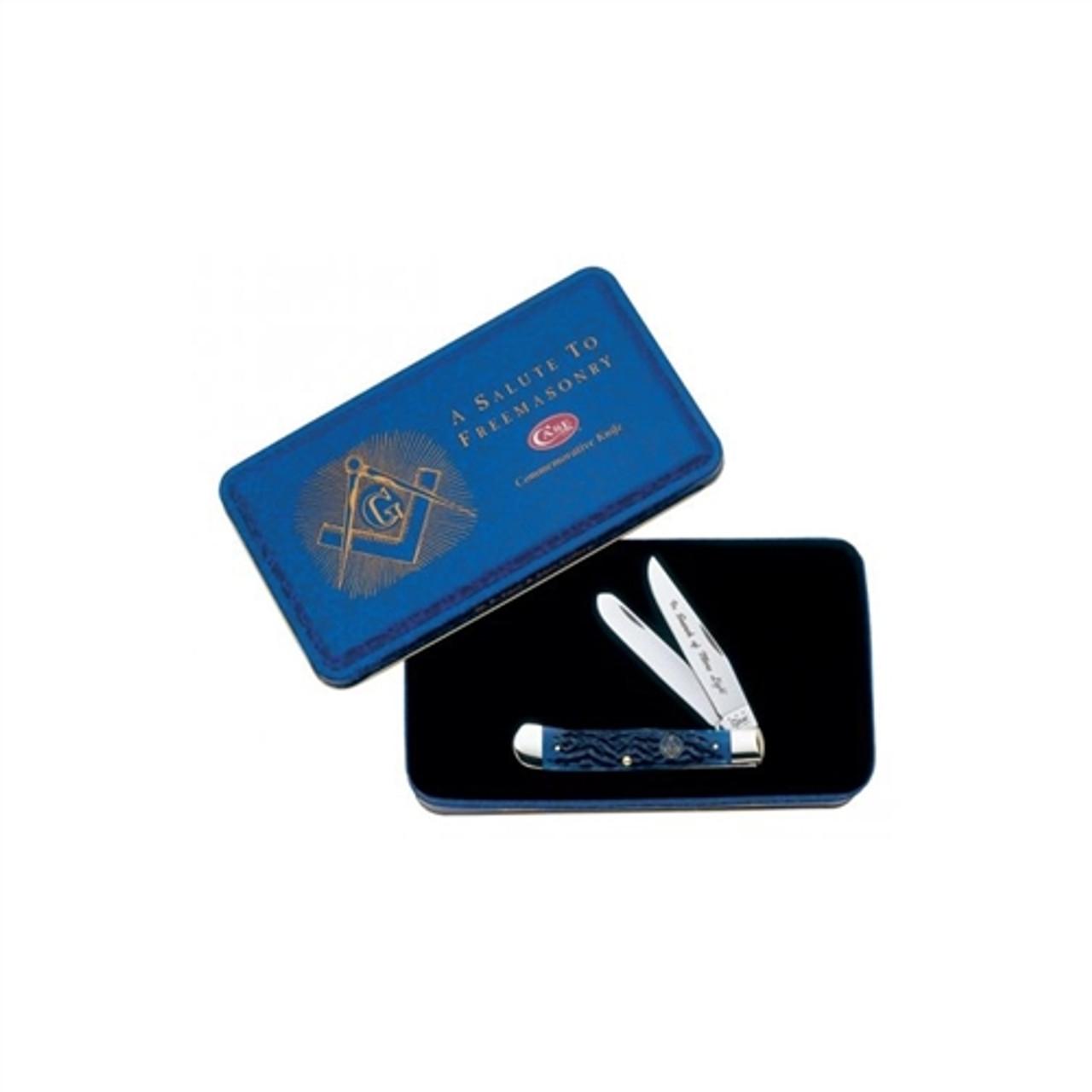 Case Freemasonry Commemorative Trapper Knife, Blue