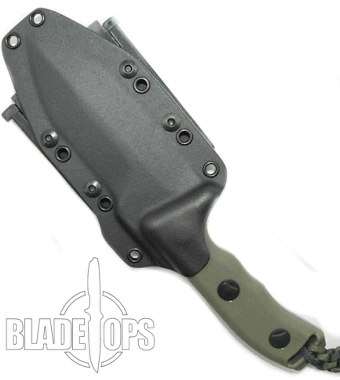 Microtech Crosshair Green Double Edge Knife 101-1GR, Plain Edges