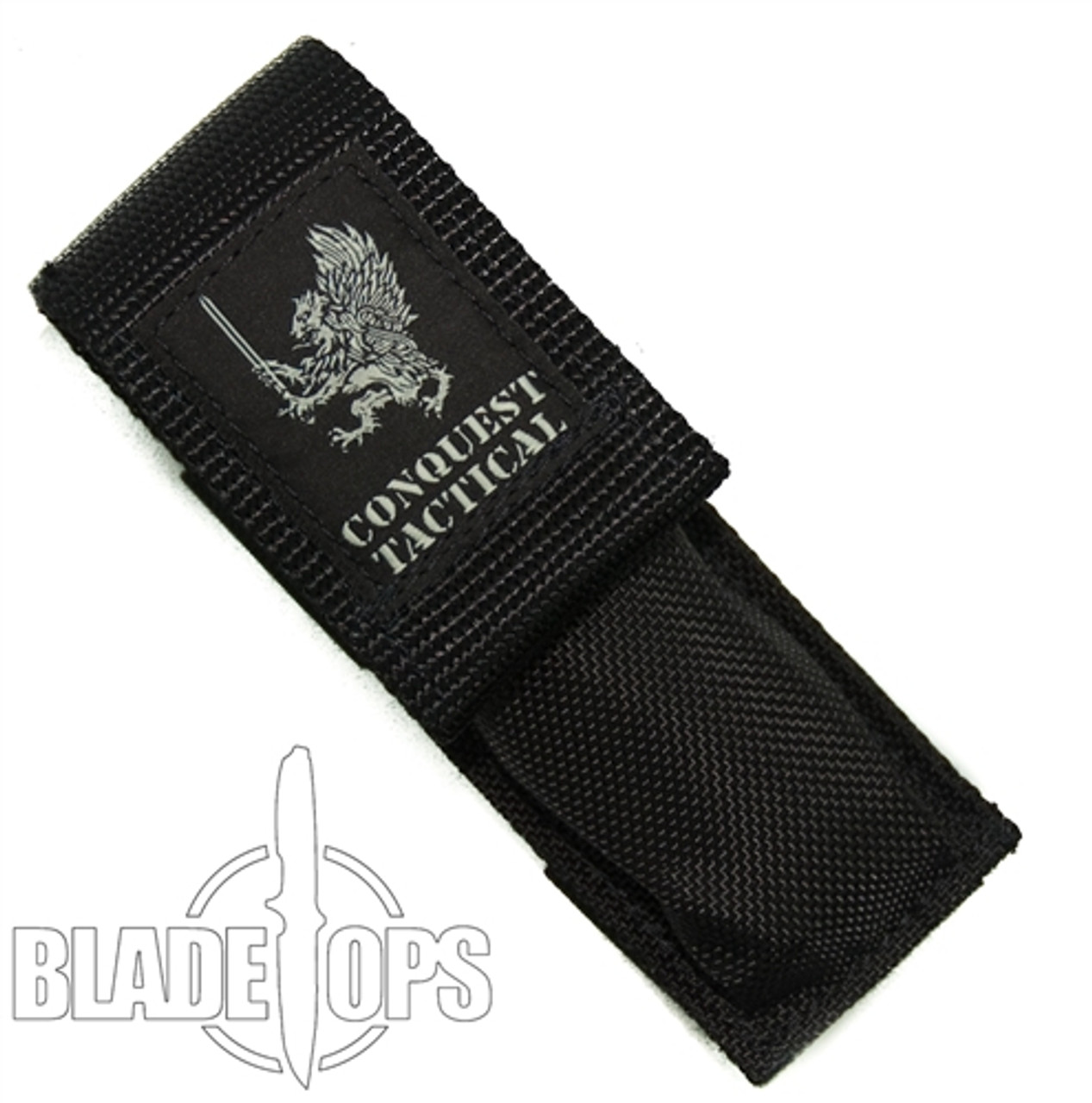 Conquest Tactical Fury OTF Auto Knife, Brightwash Tanto Blade
