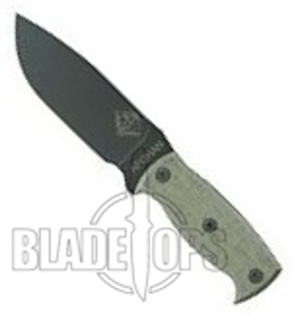 Ontario Ranger Series Afghan Black Micarta Plain Edge Knife, 9419BM