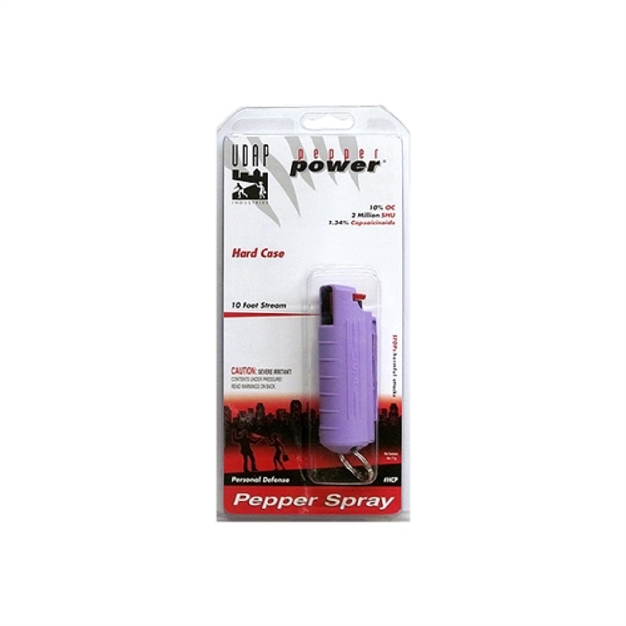 UDAP Industries Pepper Spray, with Purple Hard Case