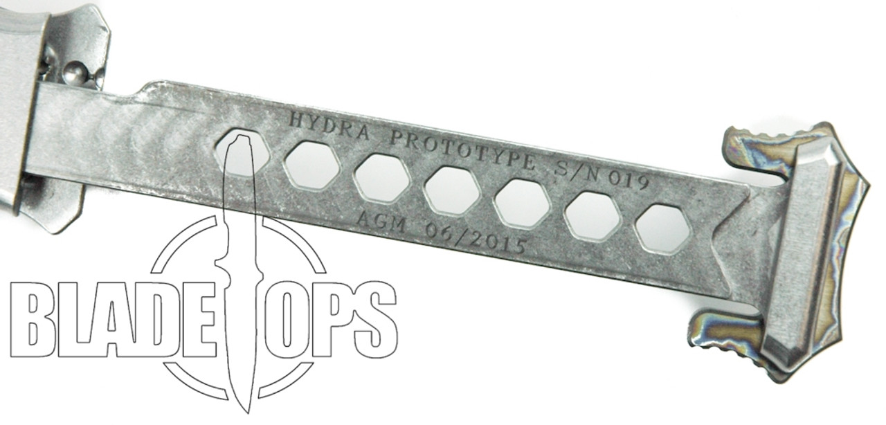 Heretic Knives Hydra Prototype OTF Auto Knife, Elmax Blade