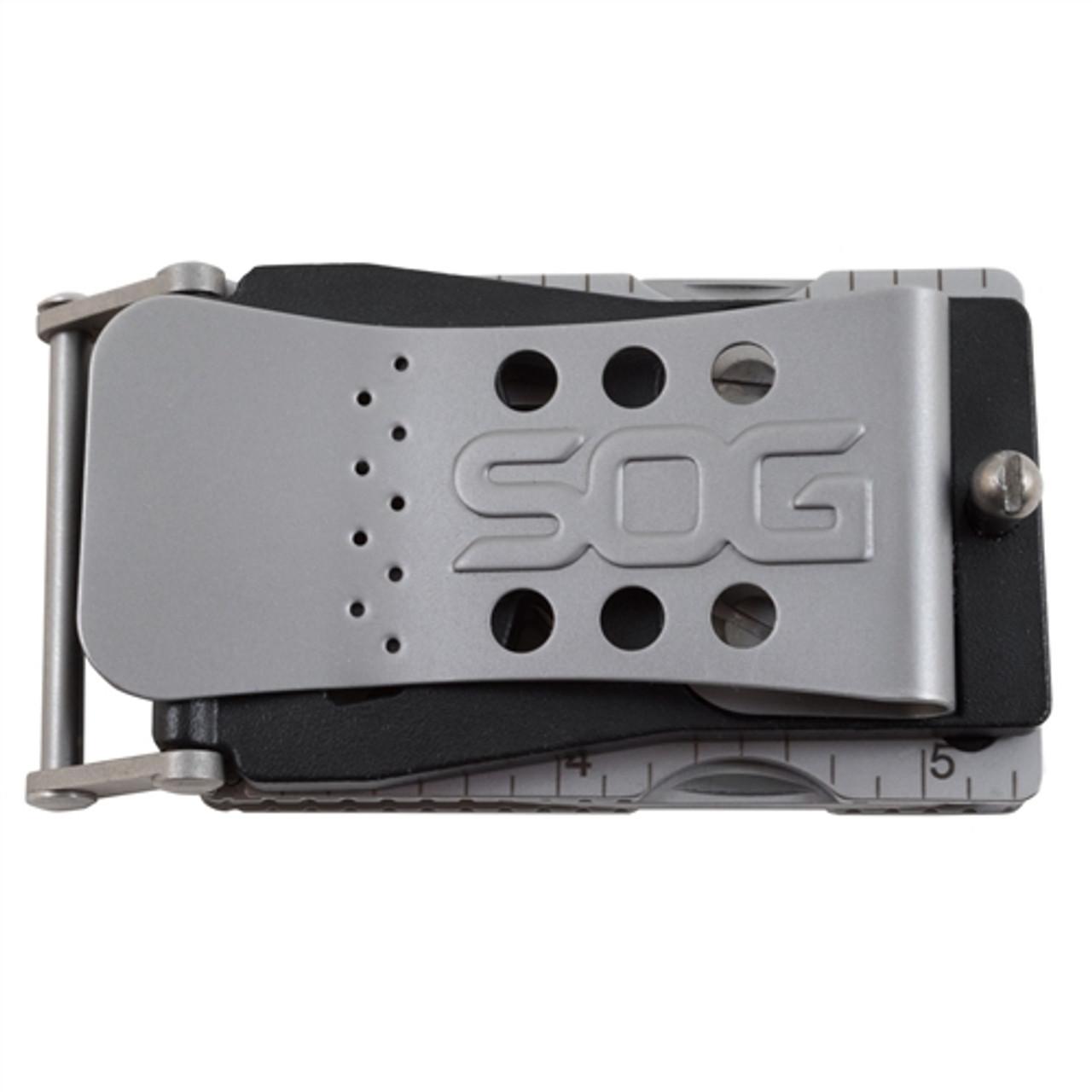 SOG SN-1001 Sync I Belt Buckle Multi-Tool, 11 Tools