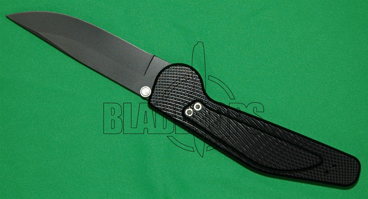 GT Knives Automatic Knife, Police, Drop Point Plain, Titanium Nitride