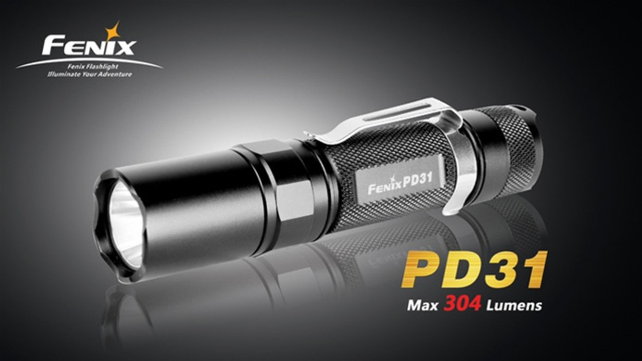 Fenix PD31 Black LED Flashlight, 304 Lumens