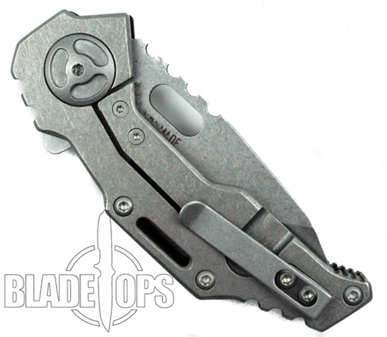 Quartermaster Knives Templeton QTR3F FrameLock Knife, Stonewash