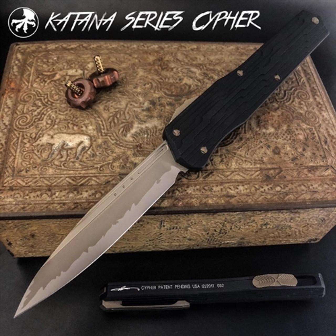 Microtech 241-13KA Katana Cypher S/E OTF Auto Knife, Bronze Blade
