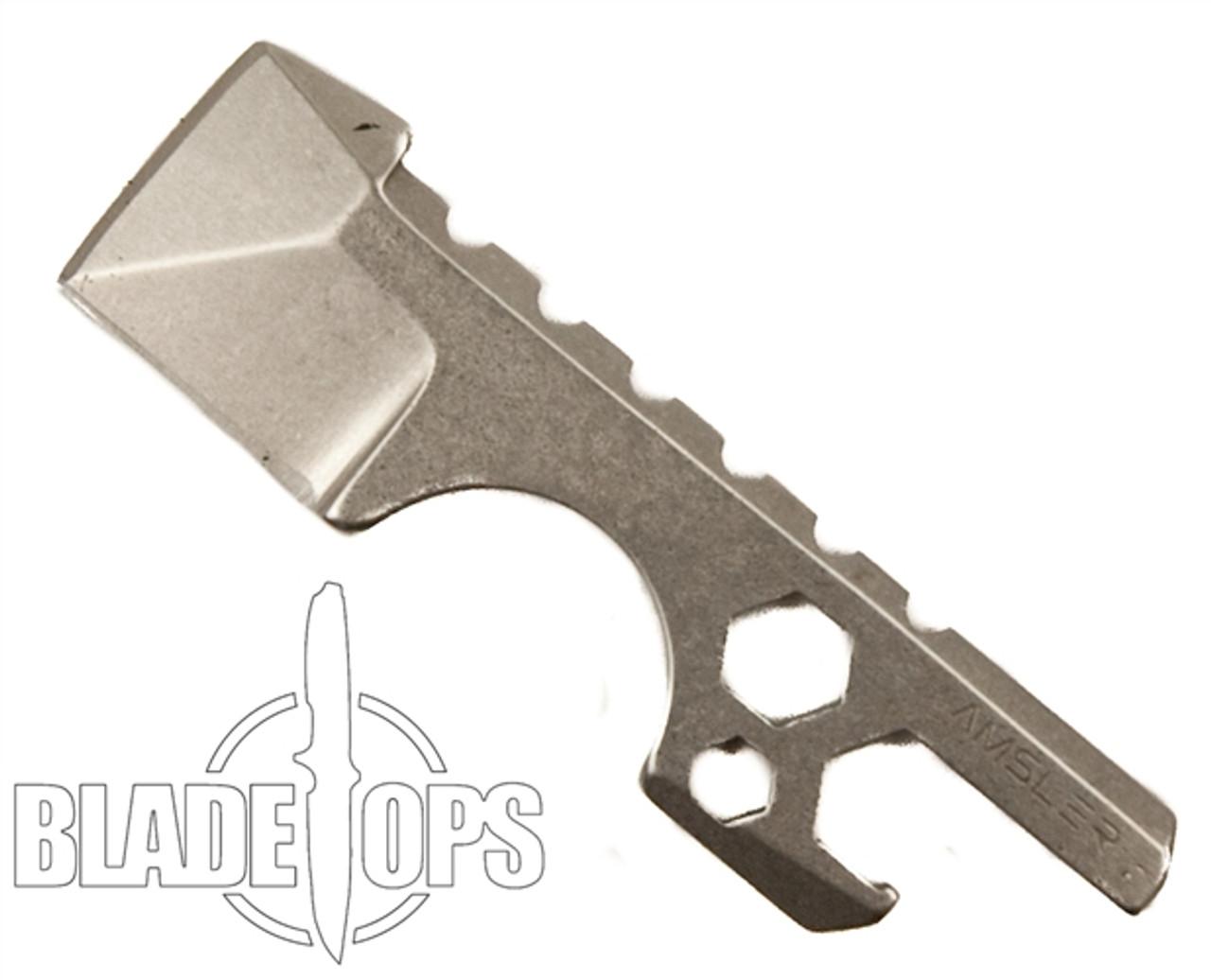 Amsler Knives Bottle Defense Tool, Hand Ground S35VN, Kydex Sheath
