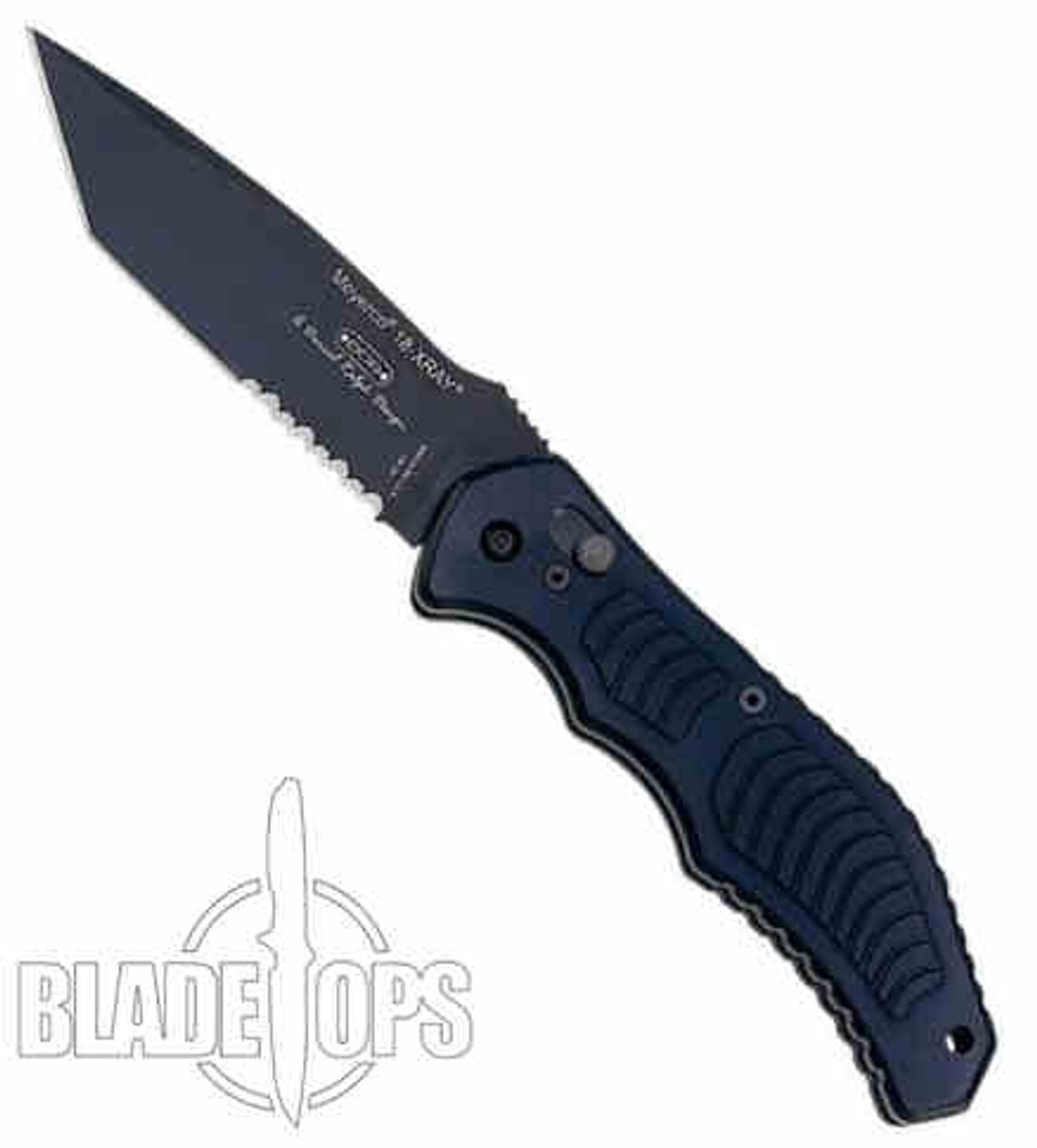 Meyerco X Ray 18 Auto Tanto Point Knife, BLK/PS, MFXRAY3