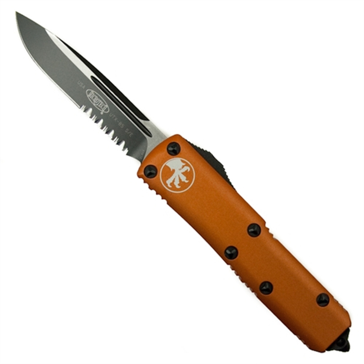 Microtech 231-2OR Orange UTX-85 S/E OTF Auto Knife, Black Combo Blade