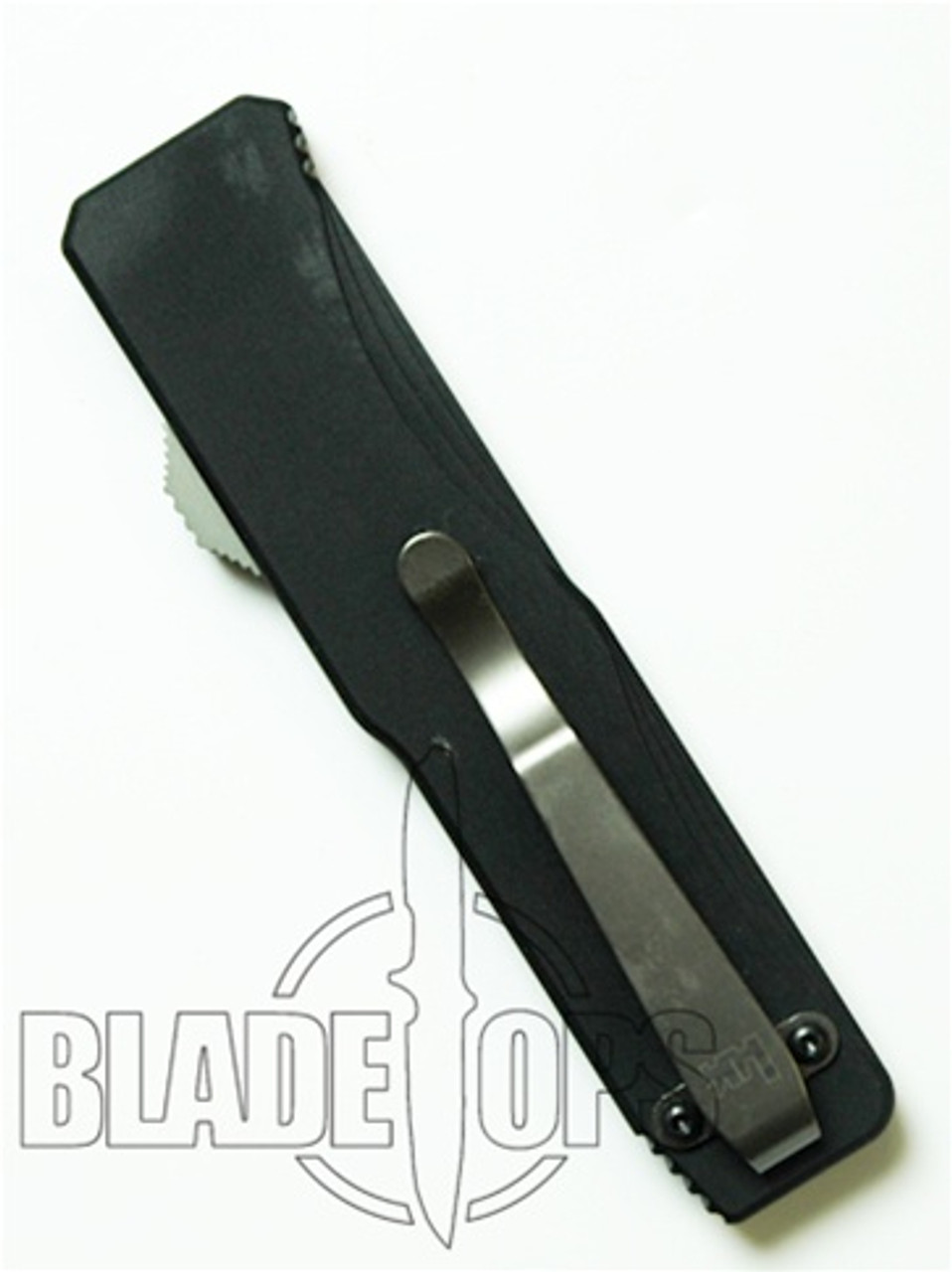 Benchmade H&K Tumult OTF Knife, Tactical Black, Part Serrated Edge, 14800SBK