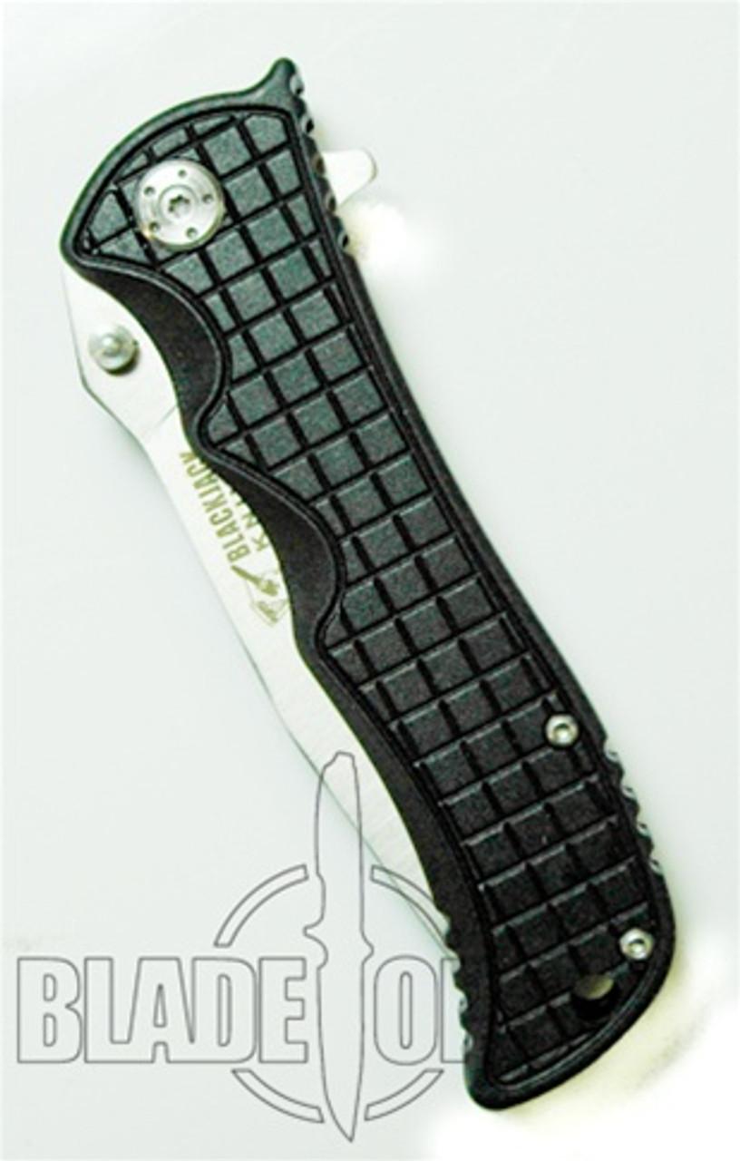 Blackjack Model 1 Tanto Point Spring Assist Knife, Black, PLN, BJ033