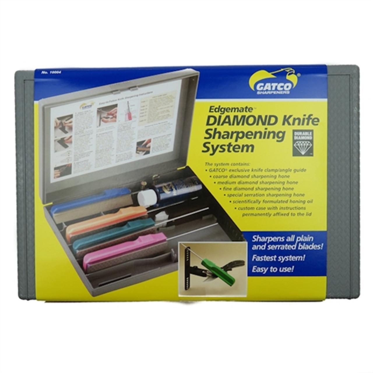 Gatco 10004 Edgemate Diamond Knife Sharpening System, 4 Hones