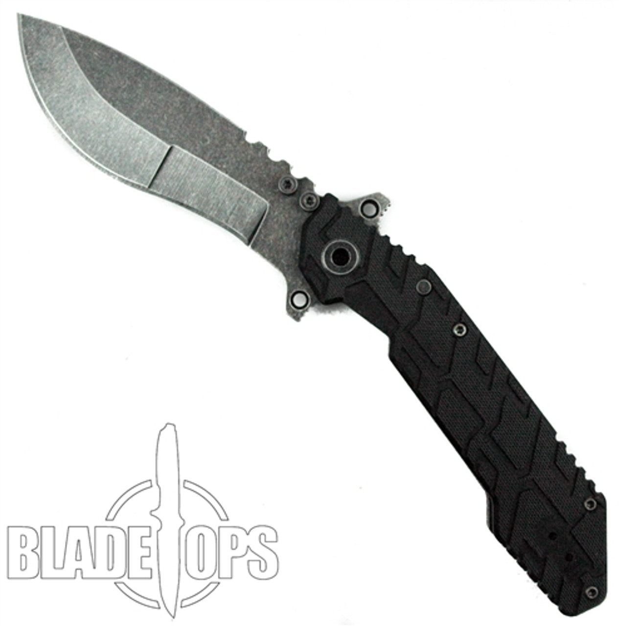 Quartermaster Knives Boss Hog QSE-1cc Folding Knife, Kukri Carbon Copy