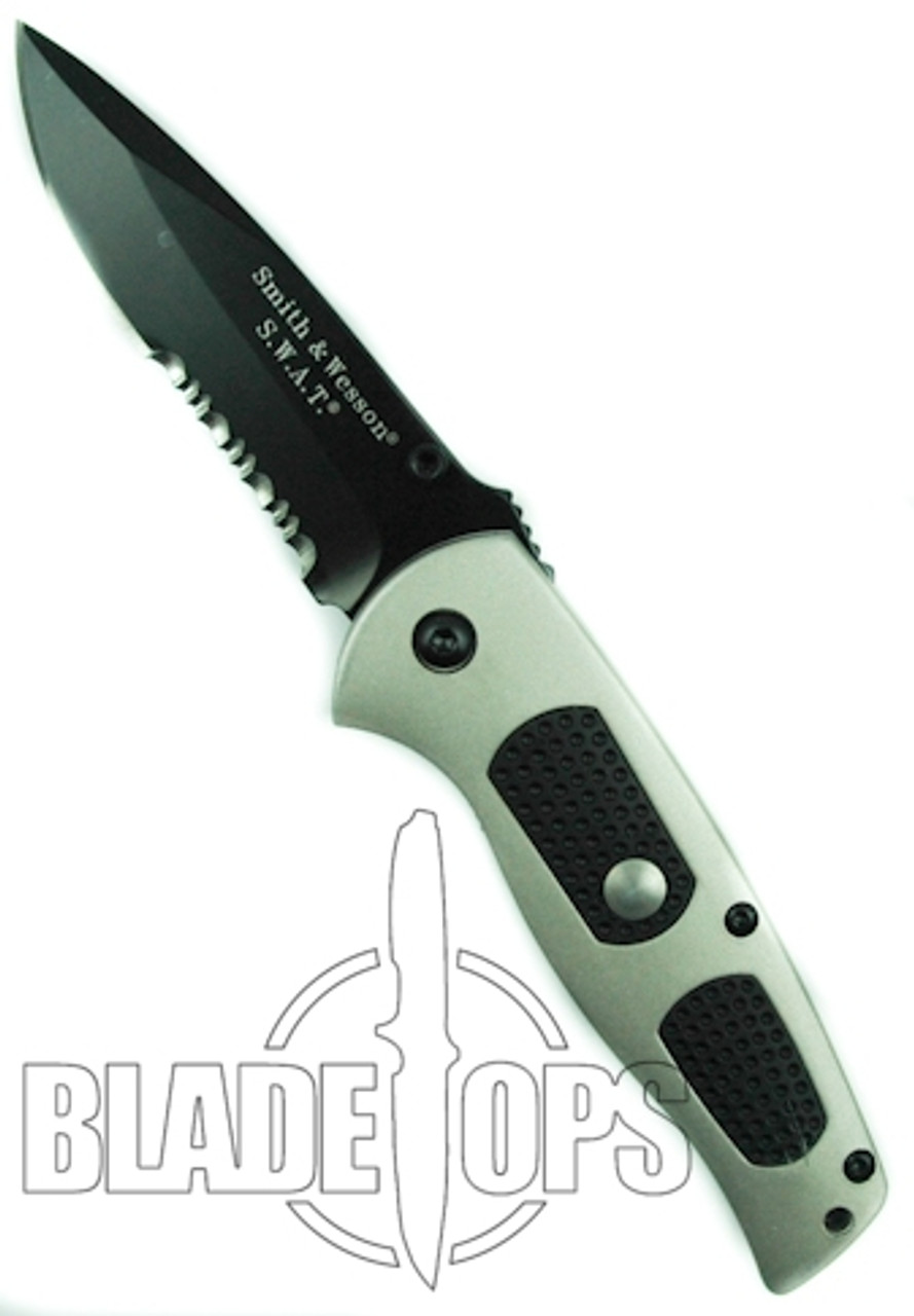 Smith & Wesson Dual Action SWAT Knife, Black Part Ser Blade,  SW5000GB