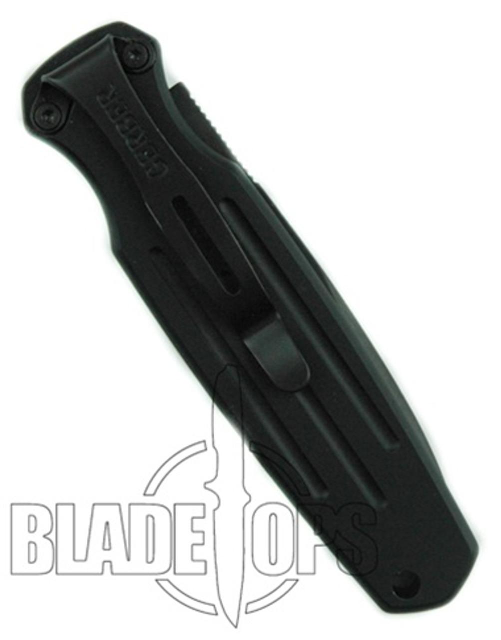 Gerber 30-000244 Mini Covert Auto Knife, CPM-S30V Black Combo Blade