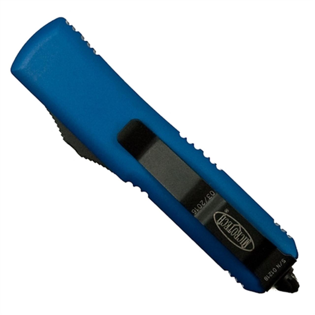 Microtech 231-1BL Blue UTX-85 S/E OTF Auto Knife, Black Blade