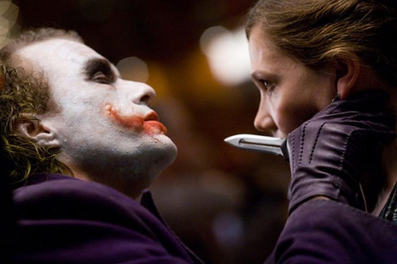 Joker's Wild Cupid Clone OTF Auto Knife, Bead Blast Combo Blade