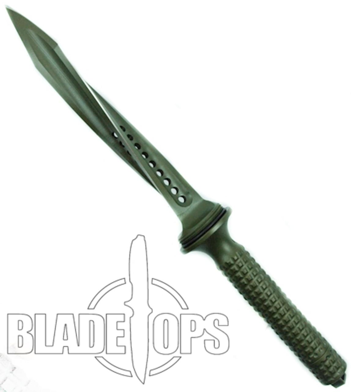 Microtech Green Jagdkommando Fixed Blade Knife, MT105-1GR