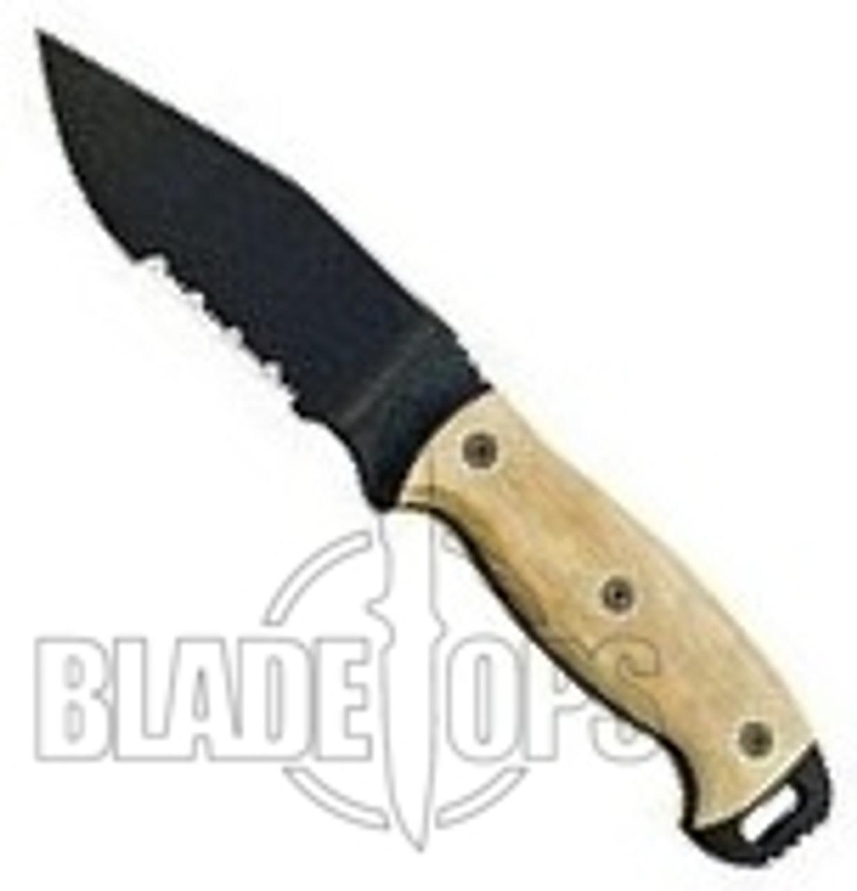 Ontario Ranger Series RD4 Tan Micarta Serrated Knife, 9415TMS