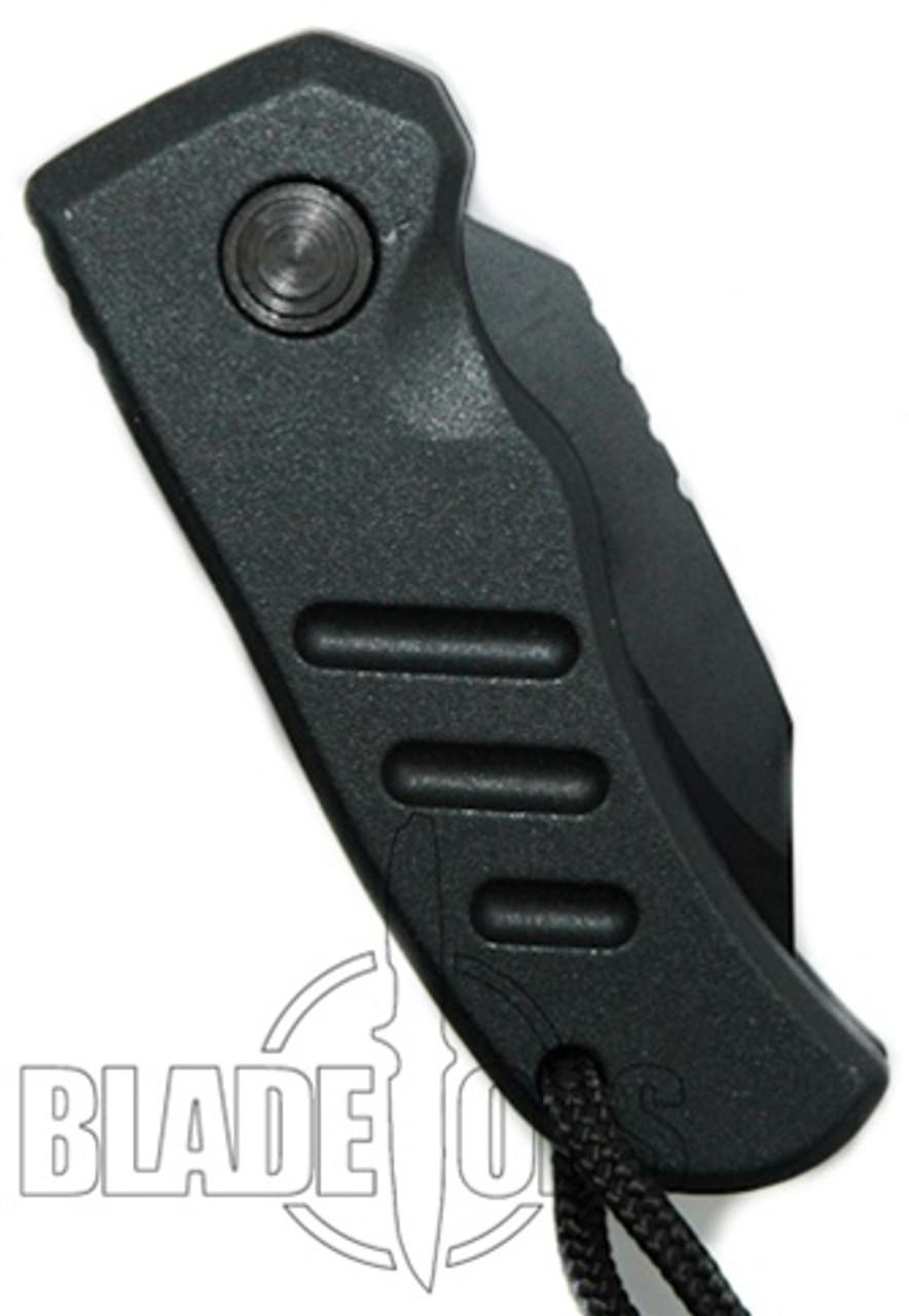 Smith & Wesson Mini Extreme Ops HRT Auto Knife, Black Plain Blade, SW60B