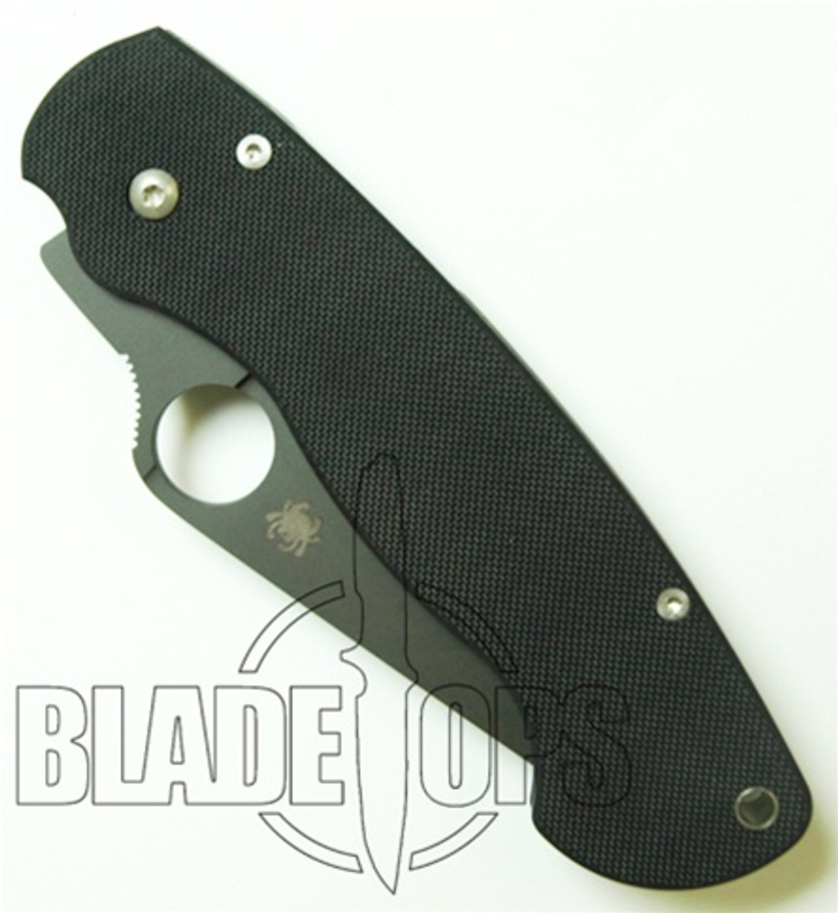 Spyderco Para-Military Manual Folder Knife, Black Plain Edge, G10 Handle, 81GPBK