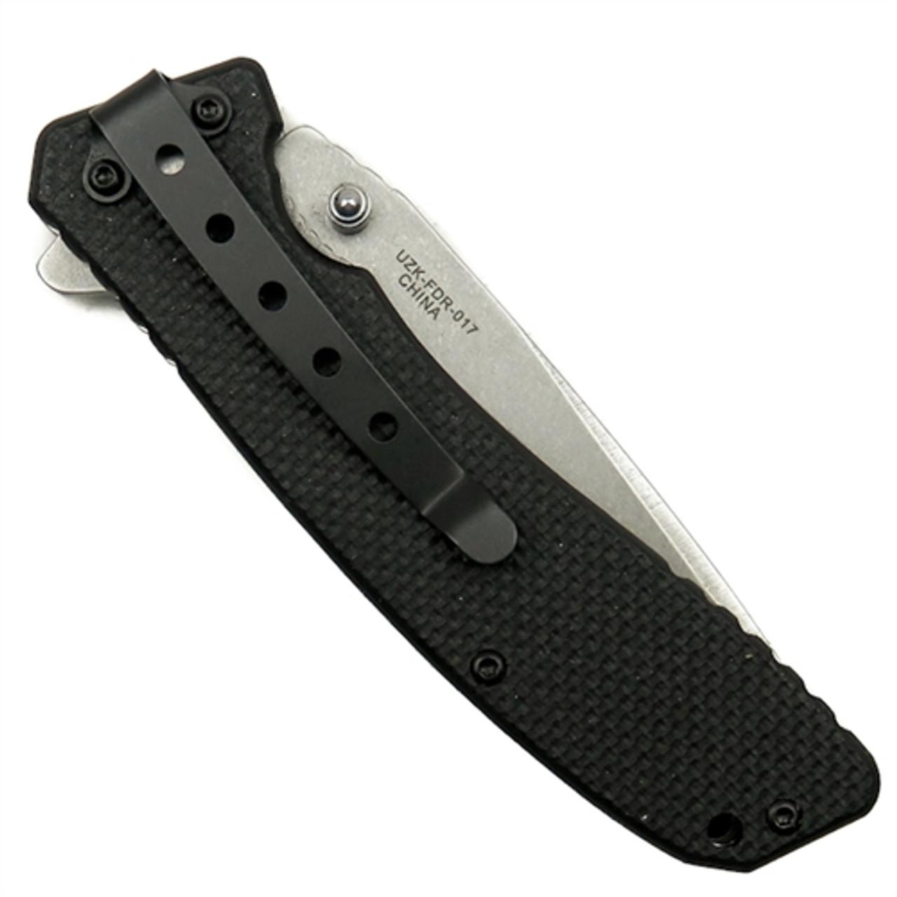 UZI FDR-017 EVN II Spring Assist Knife, Stonewash Combo Blade