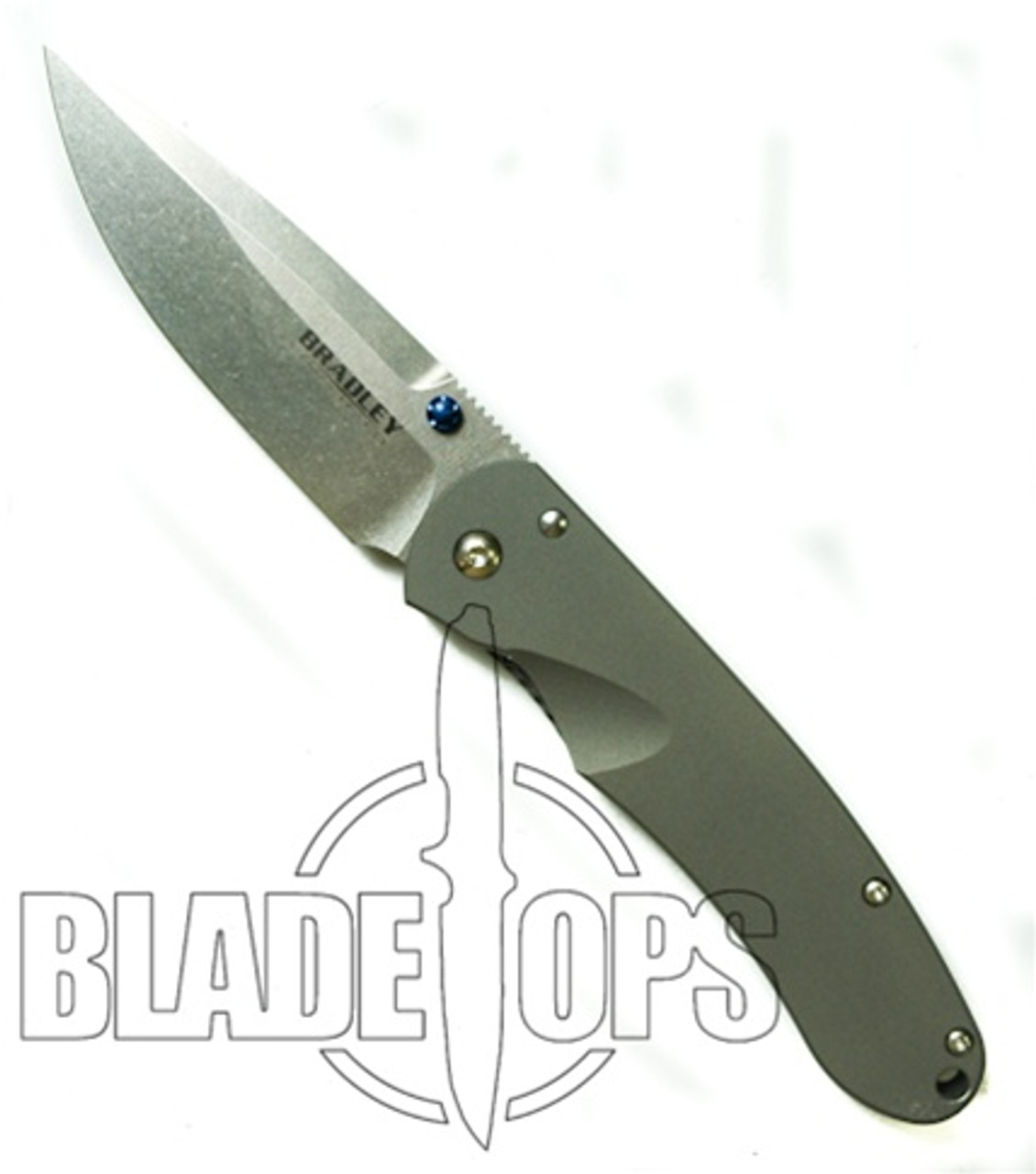 Bradley Cutlery Alias 1, Titanium Plain Edge Manual Folding Knife, S30V